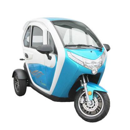 E-Force kabinescooter i blå og hvid
